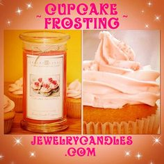 Cupcake Frosting scented candle!