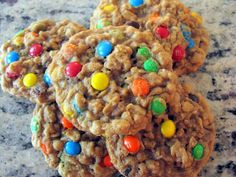 Chewy Oatmeal M Cookies- these are perfect, I used butterscotch and chocolate chips instead of m