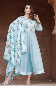 Checkout this latest Dupatta Sets Product Name: *Women's Printed Anarkali Kurta with Dupatta* Kurta Fabric: Rayon Fabric: Rayon Sleeve Length: Three-Quarter Sleeves Pattern: Printed Set Type: Kurta with Dupatta Stitch Type: Stitched Multipack: Single Sizes:  M (Bust Size: 38 m)  L (Bust Size: 40 m)  XL (Bust Size: 42 m)  XXL (Bust Size: 44 in)  Country of Origin: India Easy Returns Available In Case Of Any Issue   Catalog Rating: ★4.2 (4030)  Catalog Name: Women Rayon Flared Printed Dupatta Set CatalogID_1016340 C74-SC1853 Code: 056-6390171-1371