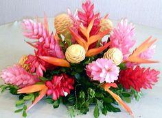 Tropical Flower Arrangements, Church Flower Arrangements, Table Arrangements, Tropical Centerpieces, Flower Centerpieces, Flower Decorations, Centrepieces, Deco Floral, Arte Floral