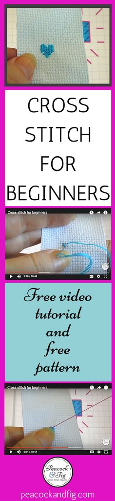 Cross stitch for beginners video tutorial | Learn to stitch in less than 10 minutes | Stitching ideas | Cross stitch tutorials | Embroidery stitches tutorials | Embroidery tutorials