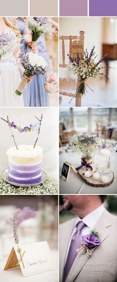 chic and elegant lavender rustic wedding color ideas