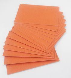 Papel Cartão Color Face Laranja já cortado nos formatos A3 e A4, espessura de 2,00 mm