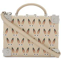 Mcm Bunny motif Berlin cross-body bag (1,690 SGD) ❤ liked on Polyvore featuring bags, handbags, shoulder bags, pink cross body purse, crossbody shoulder bag, pink leather purse, mcm crossbody and leather shoulder bag
