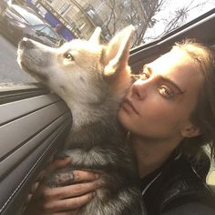 Pin for Later: 31 Celebrities Who Are Just as Obsessed With Animals as You Are Cara Delevingne