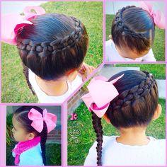 Line braid hair style for little girls