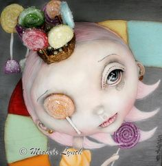 Pop Surrealism Candy Land Princess Lolly Low by michelelynchart, $20.00