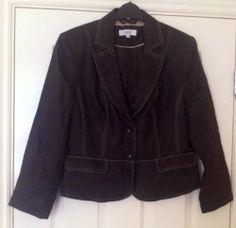 New - Womens Next Stylish Brown Stitch Detail Tailored Jacket Size 14 - £17.99