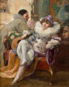 Pierrot by Richard Geiger (1870-1945)
