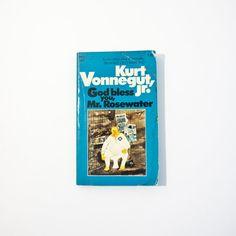 God Bless You, Mr. Rosewater - Kurt Vonnegut - 1973 Printing on Etsy, $16.00