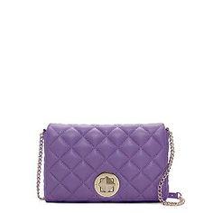Kate Spade purple color purse. Too cute. Love Kate Spade. #handbag #purple #chain