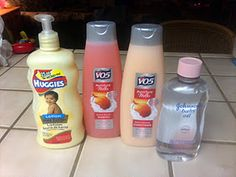 make your own shaving cream. So cheap and makes a ton! Never buy the stuff in a can again!!