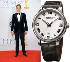 Jim parsons wearing Chopard Classic Timepiece at the 64th Annual Primetime Emmy Awards