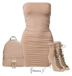 """""""Untitled #2952"""" by breannamules ❤ liked on Polyvore featuring MICHAEL Michael Kors and Balmain"""