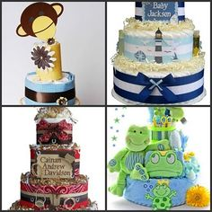 1.  Mod Monkey Diaper Cake: Hostess with the Mostess