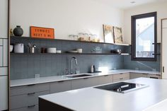 This image of a San Francisco kitchen is courtesy of Heath Ceramics and will appear in theirupcomingbookTileMakestheRoom@tilemakestheroom.  InteriorDesign by GamblePlusDesign@gambleplusdesign. Kitchen system by Henrybuilt.  Construction by Stingray Builders Inc. http://ift.tt/1ivwaRfPhotography by @MarikoReed.  #henrybuilt #modernkitchen #tileaddiction by henrybuilt