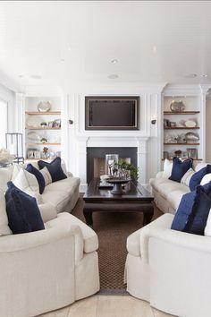 Furniture arrangement and TV location.