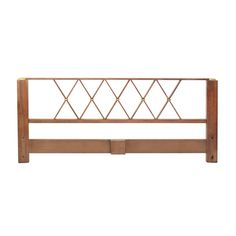 King Size Headboard in Mahogany and Brass by Paul Frankl | From a unique collection of antique and modern beds at http://www.1stdibs.com/furniture/more-furniture-collectibles/beds/