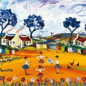 Medium Prints A range of medium sized images, printed in full colour by lithographic process. African Paintings, South African Artists, Simple Acrylic Paintings, Pretty Pictures, Pretty Pics, Various Artists, Naive, Folk Art, Medium