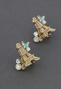 Crystal Eiffel Tower Earrings - Earrings - Accessory - Retro, Indie and Unique Fashion