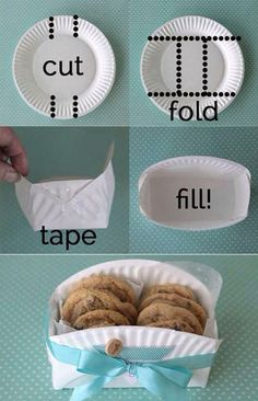 Cute way to wrap cookies as a gift!