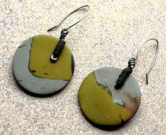 Christine Damm; Colorado earrings polymer clay