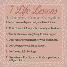 7 Life Lessons to Improve Your Everyday