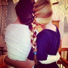 Friendship braid -@Amber King  aww girl this is cool. if only we had some long hair! lol