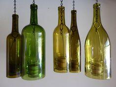Wine Bottle Candle Holder Hurricane Lantern Hanging by BoMoLuTra