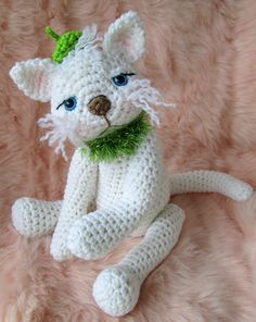 Ravelry: Cute Kitty Cat Crochet Pattern pattern by Teri Crews                                         ;omg how cute !
