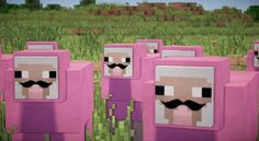 He is my most favorite character lol Minecraft pink sheep Minecraft Sheep, Minecraft Quilt, Minecraft Videos, Minecraft Games, Minecraft Birthday Party, Birthday Parties, Wallpaper Minecraft, Pink Sheep, Minecraft Characters