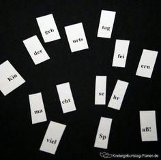 Hier ist alles durcheinander geraten - können die Kinder den Satz wieder richtig zusammen setzen und die Botschaft entschlüsseln?