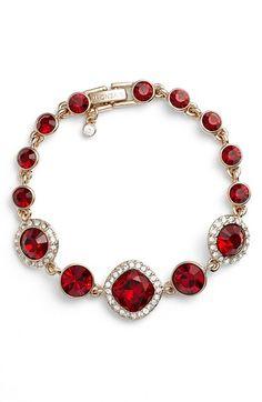 Givenchy Jeweled Line Bracelet...but emerald <3