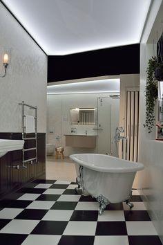 La Salle De Bains Blanche Et Noire Est Une Piece Deau Caractere
