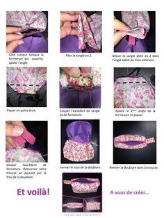 Trousse de toilette Blog Couture, Shirt Dress, Sewing, Mens Tops, Shirts, Dresses, Diy, Kitchen Appliances, Fashion