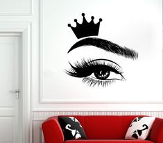 wall sticker for salon – Page 14 – Improve your house and yourself Beauty Room Decor, Beauty Salon Decor, Office Wall Decals, Vinyl Wall Decals, Artist Wall, Window Stickers, Wall Stickers, Eyelashes, Eyebrows