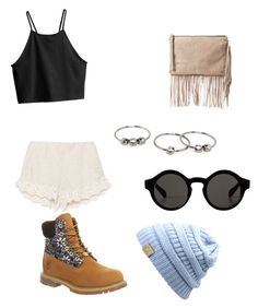 """Untitled #21"" by madison-lxii ❤ liked on Polyvore featuring Zara, H&M, Timberland, Monki and MANGO"