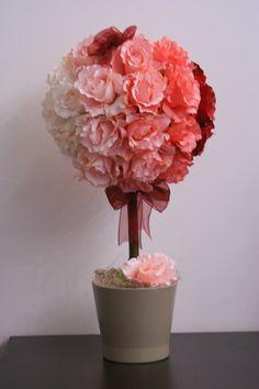 #aranjament #copacel cu #flori #artificiale - Pink Remembrance