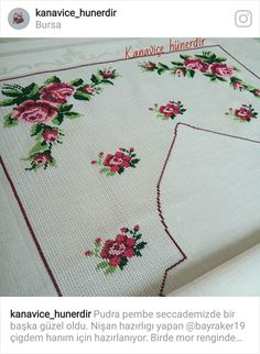 This Pin was discovered by ber Cross Stitch Flowers, Cross Stitch Patterns, Brazilian Weave, Crochet Bedspread, Embroidery Works, Prayer Rug, Bargello, Crochet Lace, Color Splash