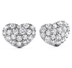 Silk Pave Sweetheart Earrings from Bremer Jewelry