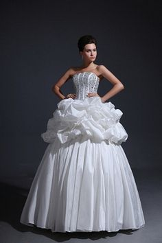 Strapless Ball Gown Taffeta Wedding Gowns wr0638 - http://www.weddingrobe.co.uk/strapless-ball-gown-taffeta-wedding-gowns-wr0638.html - NECKLINE: Strapless. FABRIC: Taffeta. SLEEVE: Sleeveless. COLOR: White. SILHOUETTE: Ball Gown. - 136.59