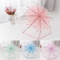 "Sweet cherry blossom transparent folding umbrella SE10496      Coupon code ""cutekawaii"" for 10% off"
