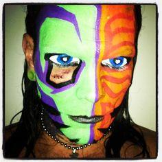 TNA Impact Zone - 20 Dec 2012 Jeff Hardy Face Paint, Wwe Jeff Hardy, The Hardy Boyz, Cool Face, Creatures Of The Night, War Paint, Wwe Hardys, Brother, Wwe Stuff