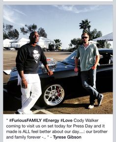 ❤️❤️ love that tyrese wearing Paul shirt :)