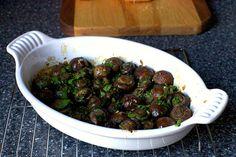 Butter garlic roasted mushrooms
