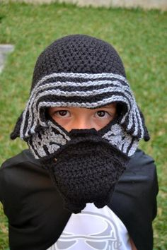 Kylo Ren Crochet Hat for Kids pattern Download