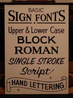 basic sign fonts