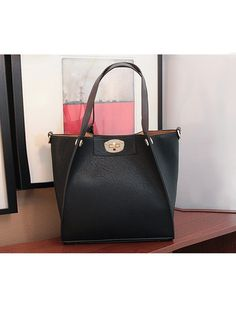 Black fold-able Wing Tote Bag $49.00
