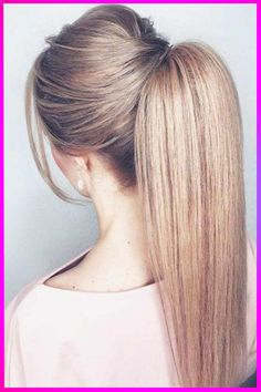 Best Wedding Hairstyles Straight Updo Short Hair Ideas - My list of women's hair styles Cute Ponytail Hairstyles, Cute Ponytails, Easy Hairstyles, Straight Hairstyles, Wedding Hairstyles, Puff Hairstyle, Ponytail Updo, Teenage Hairstyles, Elegant Hairstyles