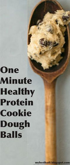 One Minute Healthy Protein Cookie Dough Balls nut butter base with protein powder